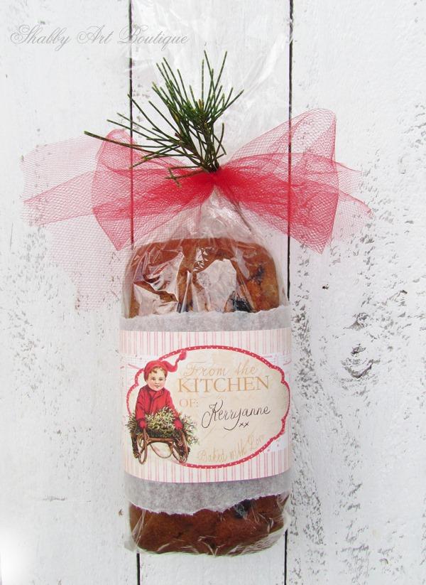 printable christmas food gift tags shabby art boutique