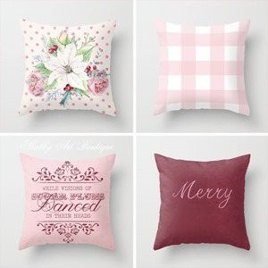 Christmas pillows  designed by Shabby Art Boutique on Society 6