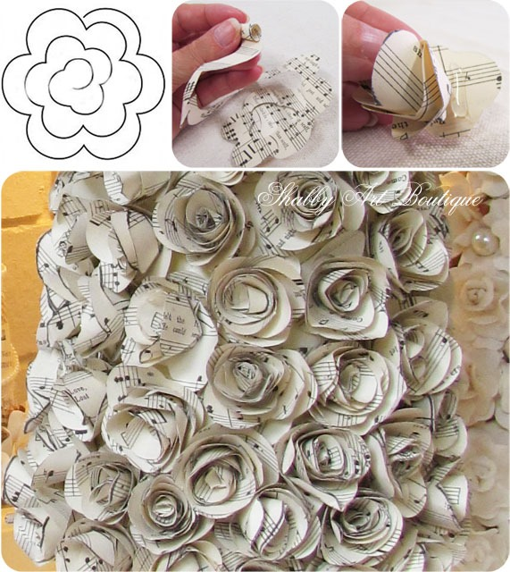 How to make paper roses from Shabby Art Boutique