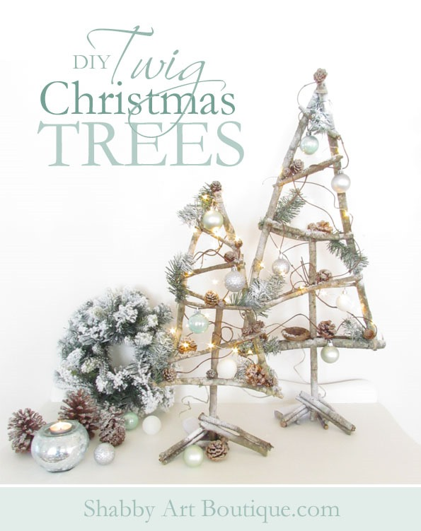 How to make twig Christmas trees by Shabby Art Boutique (2)