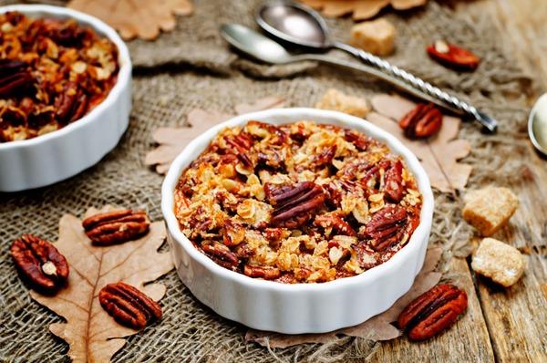Sweet Potato Casserole with Pecan oat crumbs