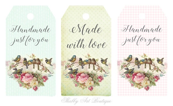 printable tags for handmade items from shabby art boutique