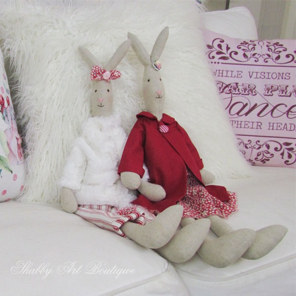 Putting the handmade back into the holidays at Shabby Art Boutique - Look-A-Like Maileg Rabbits