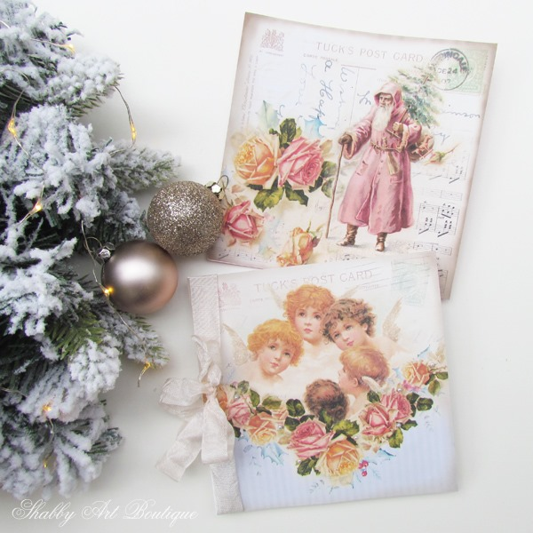 Vintage Christmas cards to download from Shabby Art Boutique