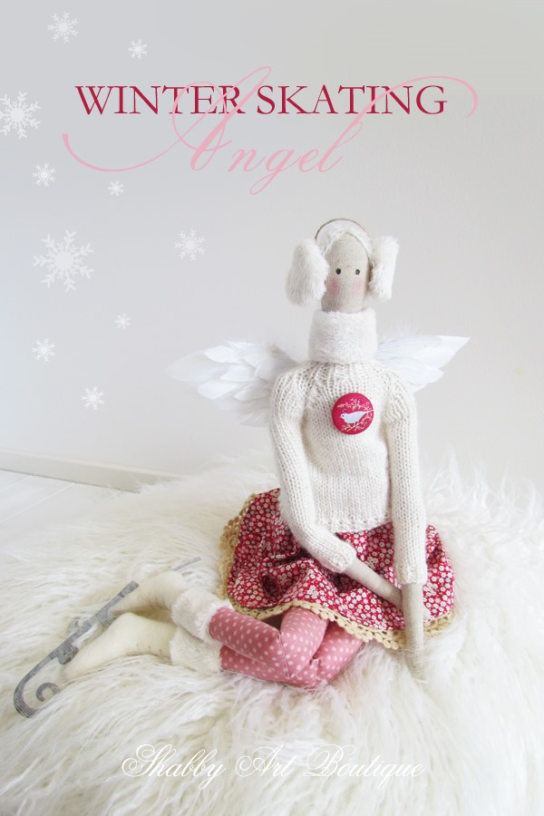 Winter Skating Angel  from Shabby Art Boutique