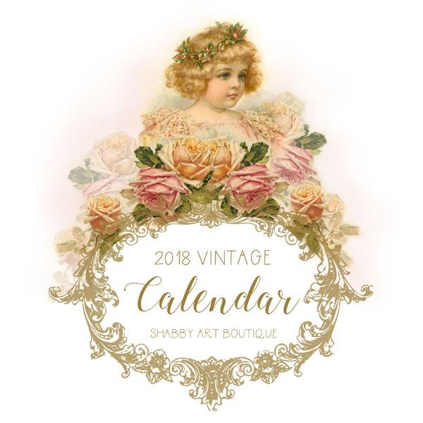 Vintage Calendar Art : Free printable vintage calendar shabby art boutique