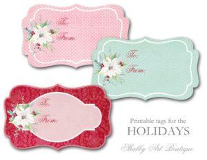 Free printable Christmas Wrap Paper and Tags