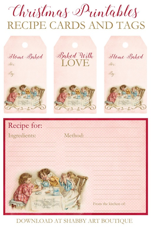 photograph about Printable Christmas Recipe Cards called Printable-Xmas-recipe-playing cards-and-tags-toward-down load-at