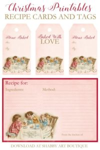 More Vintage Printables… A Giftbox… And A Winner