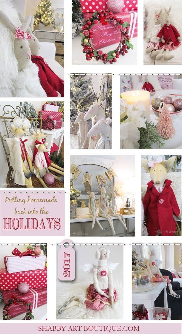 Putting the homemade back into the holidays at Shabby Art Boutique - Christmas 2017