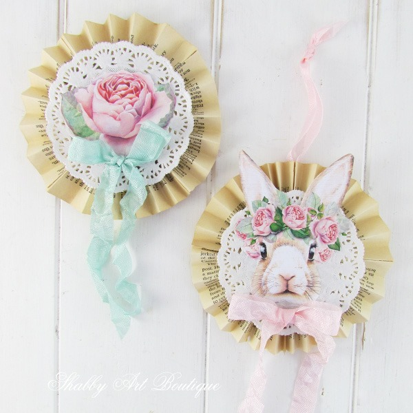 Shabby bunnies and rose tags by Shabby Art Boutique