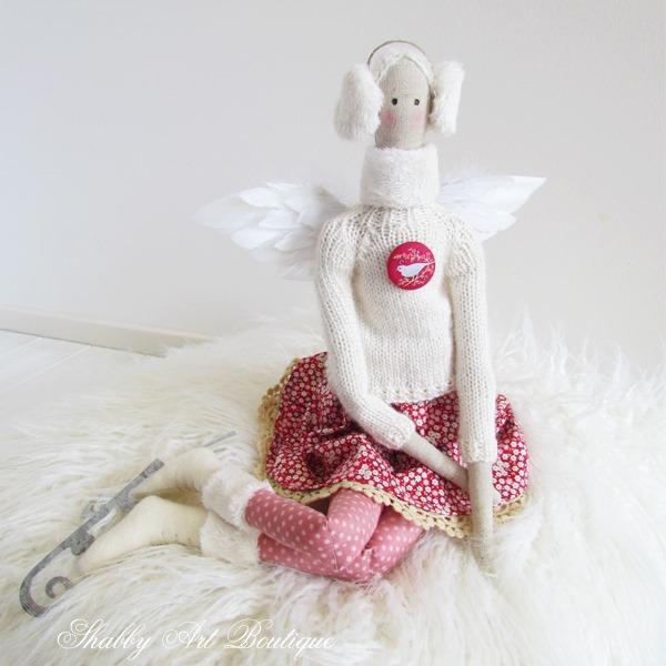 Tilda winter skating angel by Shabby Art Boutique