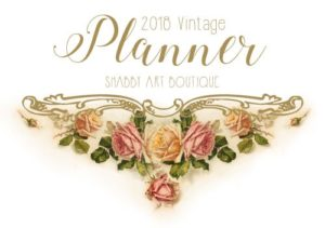 Printable 2018 Vintage Planner