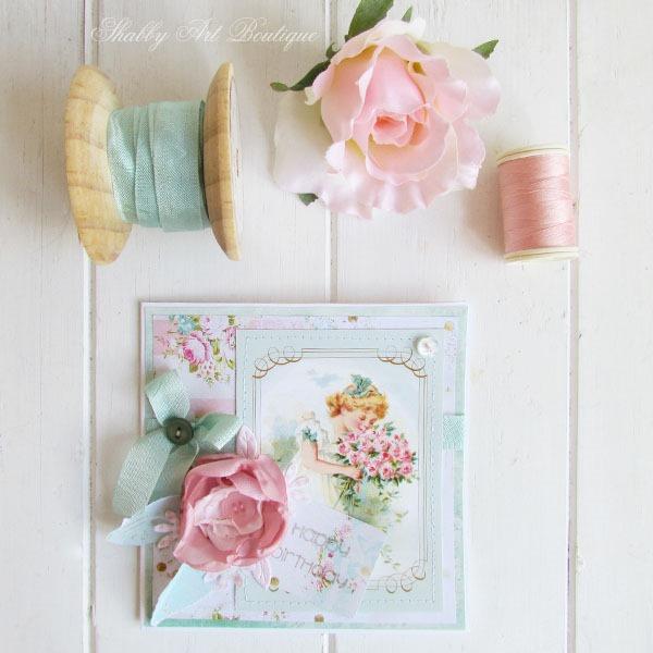 using free vitnage printable sto make handmade cards at shabby art boutique