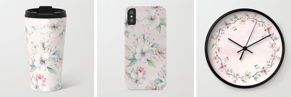 New stock on Society6 by Shabby Art Boutique