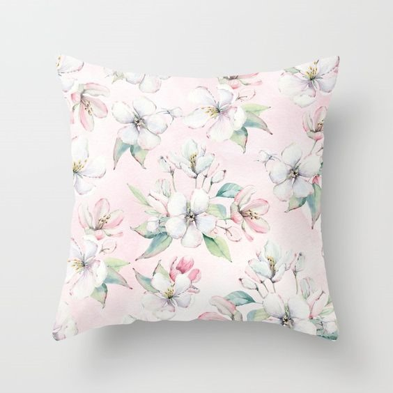 Shabby Chic Spring Pillow available on Society6