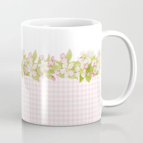 Spring Blossom mug by Shabby Art Boutique on Society6