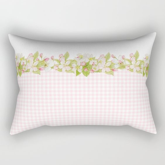 Spring Blossom rectangle pillow by Shabby Art Boutique on Society6