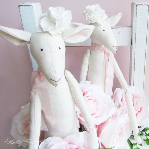 Handmade Tilda Lambs - Shabby Art Boutique