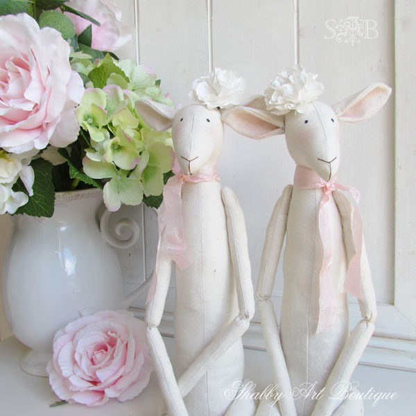 Shabby spring Tilda lambs by Shabby Art Boutique