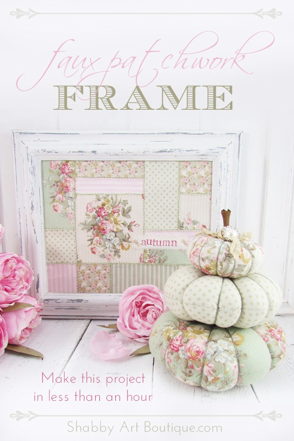 Faux Patchwork Frame for Autumn by Shabby Art Boutique