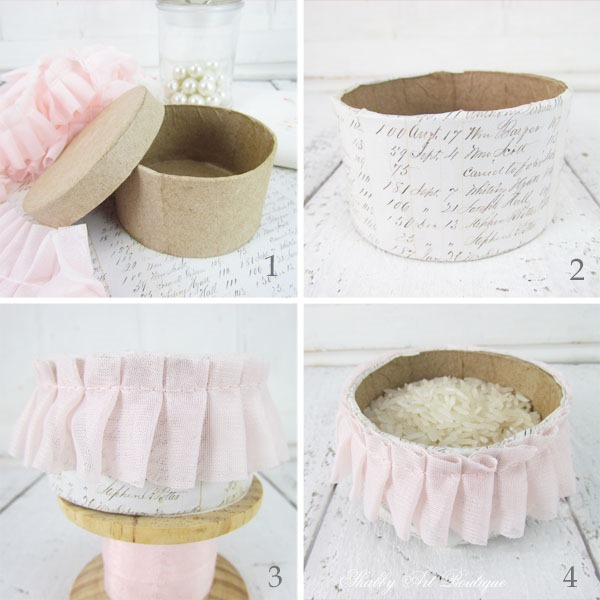 How to make a quick and easy shabby pincushion - tutorial by Shabby Art Boutique