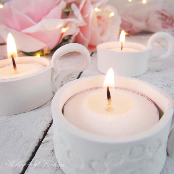 DIY Tealight Candle Holders by Shabby Art Boutique