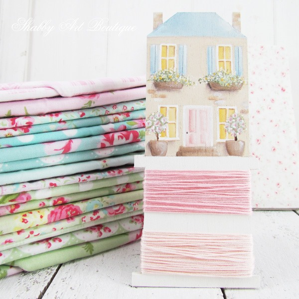 DIY shabby shops embroidery floss bobbins tutorial by Shabby Art Boutique