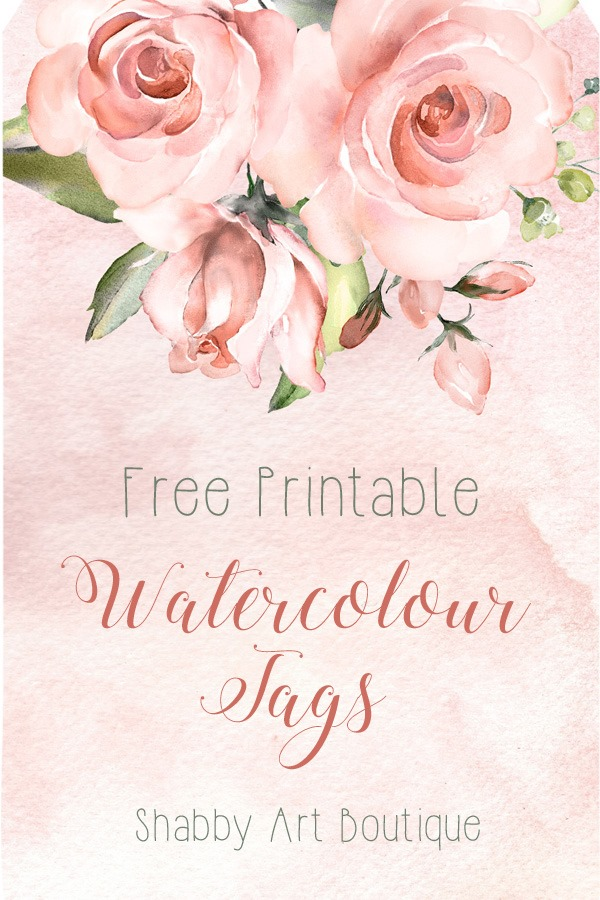 Download these free watercolour tags from Shabby Art Boutique