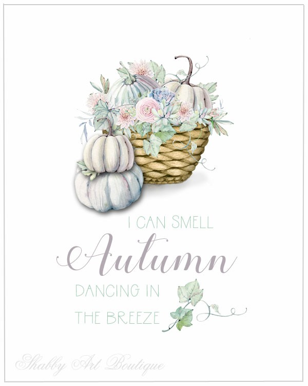 Download this free autumn printable from Shabby Art Boutique