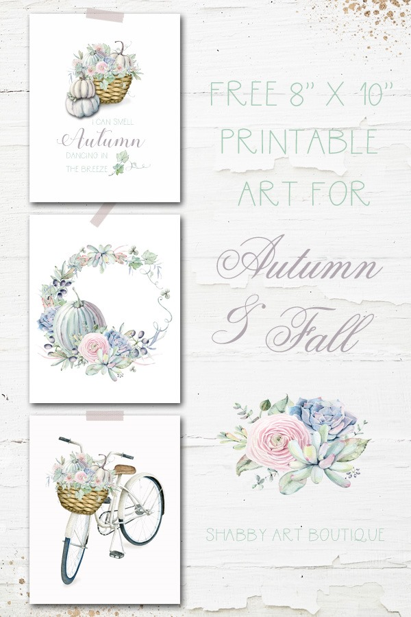 Free printable art for Autumn and Fall from Shabby Art Boutique