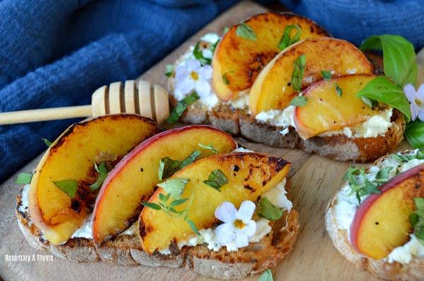 Grilled Peach Bruschetta 2
