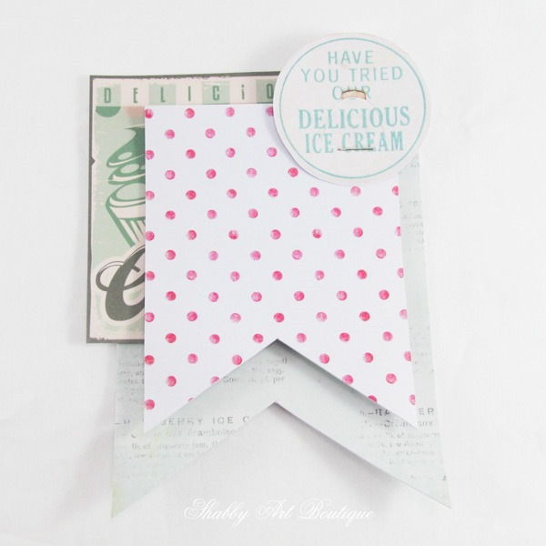 How to make a vintage ice cream tag - step 1 by Shabby Art Boutique