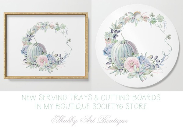 New items for Autumn and Fall in the Shabby Art Boutique Society6 store