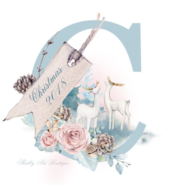 Wintery Woodland Chrsitmas in pastels from Shabby Art Boutique