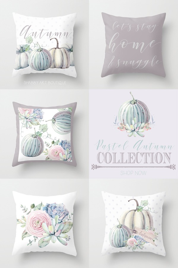 mix and match the new Pastel Autumn collection at Shabby Art Boutique