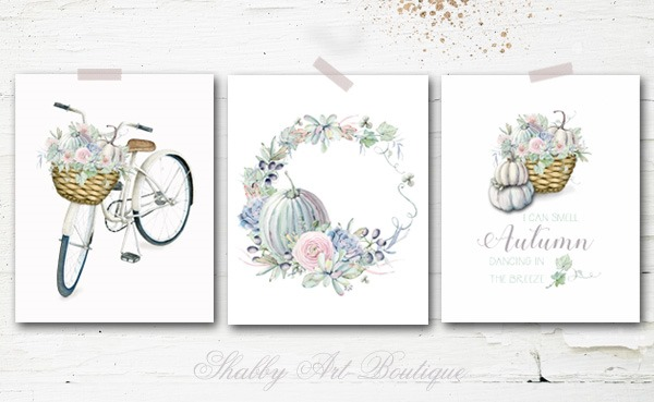 3 free Autumn printables from Shabby Art Boutique