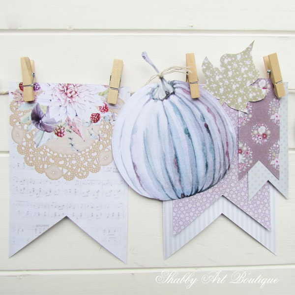 DIY free printable fall banner kit by Shabby Art Boutique