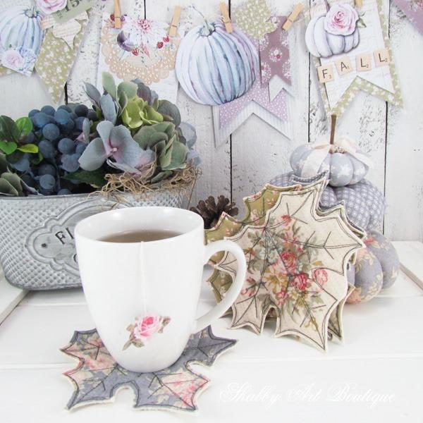 Fall leaf coasters tutorial by ShabbyArt Boutique