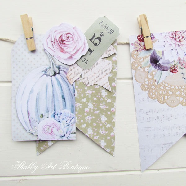 Find out how to make this printable fall banner by Shabby Art Boutique