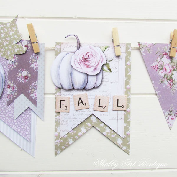 How to make a DIY fall banner from this free printable kit from Shabby Art Boutique