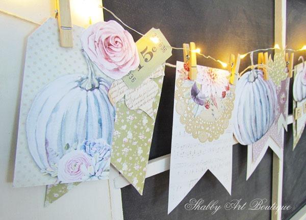 Easy DIY Printed Fall Banner Kit - Shabby Art Boutique