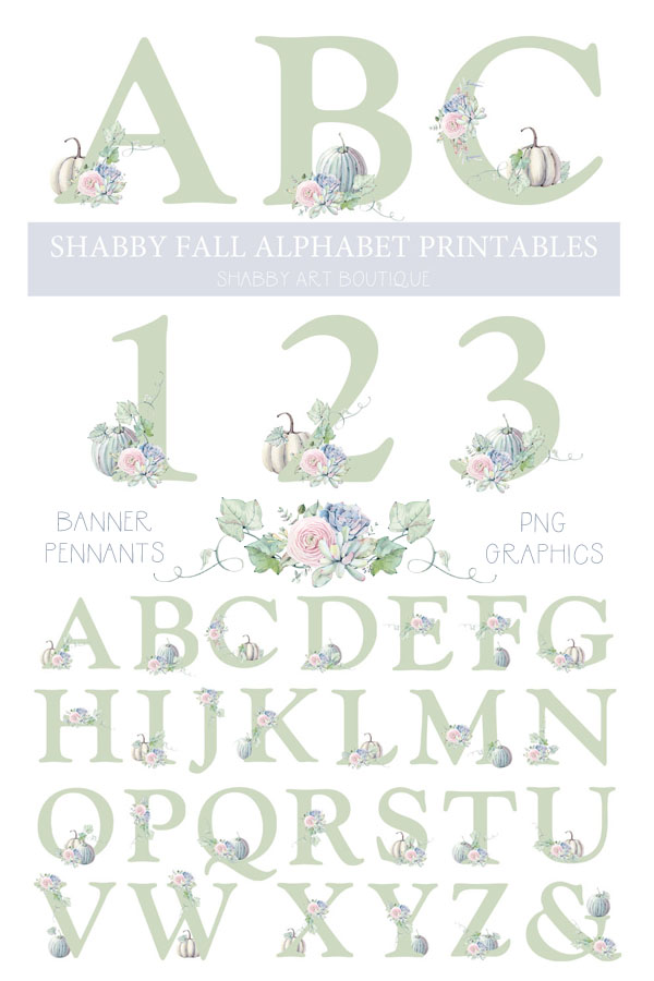 photograph about Printable Graphics called Printable Slide Alphabet - Shabby Artwork Boutique