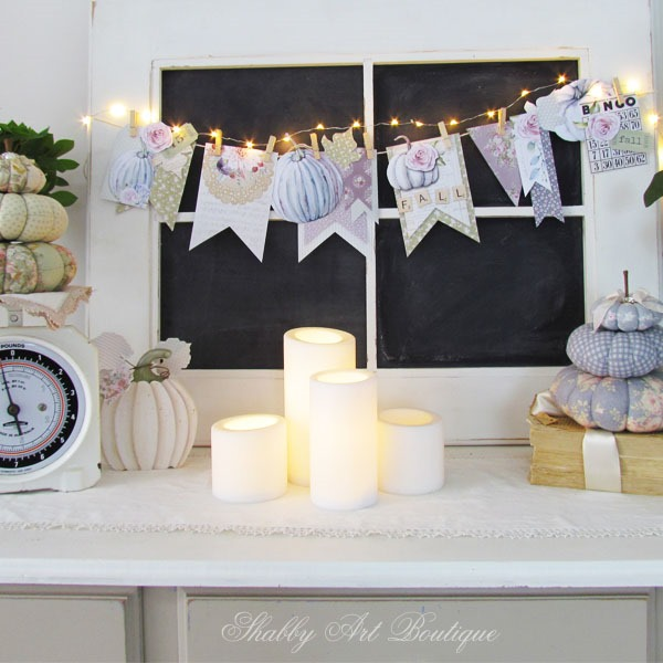 Shabby fall banner kit from Shabby Art Boutique - free printable
