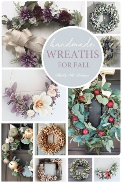When you don't have time to make it yourself, make sure you buy handmade and support a fellow artisan! Here are my top 10 picks for handmade fall wreaths from Etsy, for those who love a softer shabby color palette (that isn't orange).