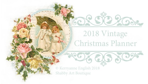 2018 Vintage Christmas Planner and Journal printables from Shabby Art Boutique