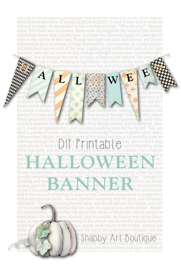 photograph regarding Free Printable Halloween Banner called Totally free Printable Halloween Banner - Shabby Artwork Boutique