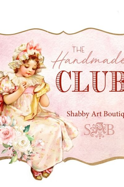 The Handmade Club is a place to share bigger projects like vintage graphic kits, digital printables, pattern e-Books, sewing and crafting tutorials. All of these projects will be exclusive to The Handmade Club members. Every month on the 15th, a new selection of projects will be ready for you to download. Clcik now to fidn out how you can join The Handmade Club.