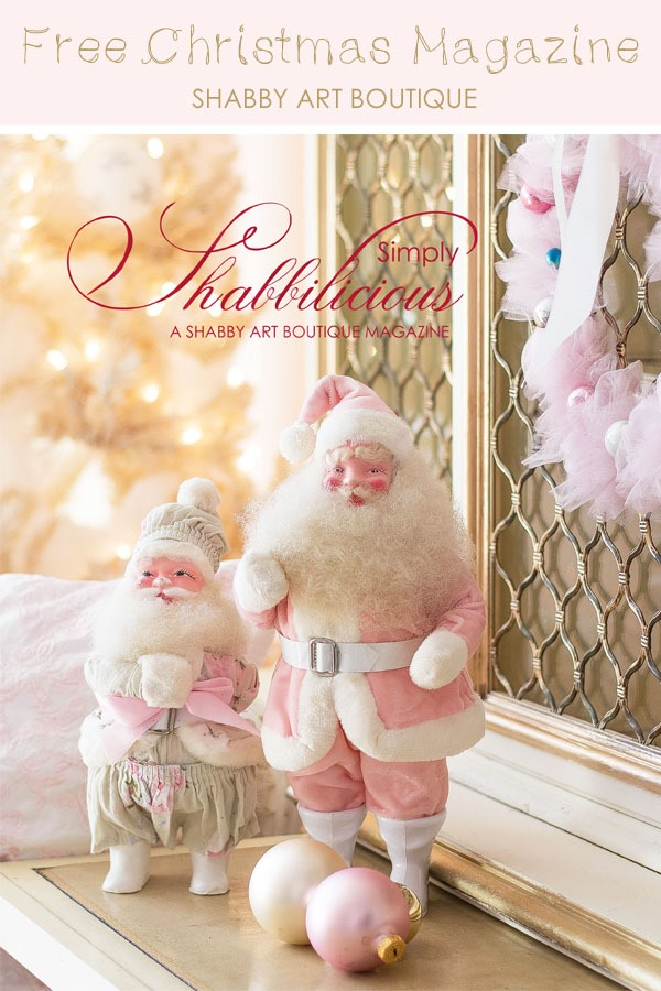 Free Christmas Magazine from Shabby Art Boutique - Printed copies also available to buy