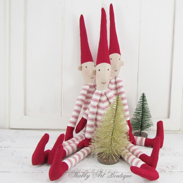 Tutorial for making Christmas Pixies from Shabby Art Boutique